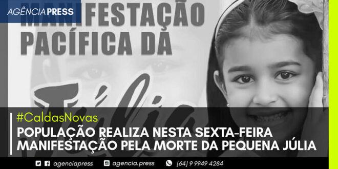 👥 🤍 #CaldasNovas | POPULAÇÃO REALIZA MANIFESTAÇÃO PELA MORTE DA PEQUENA JÚLIA
