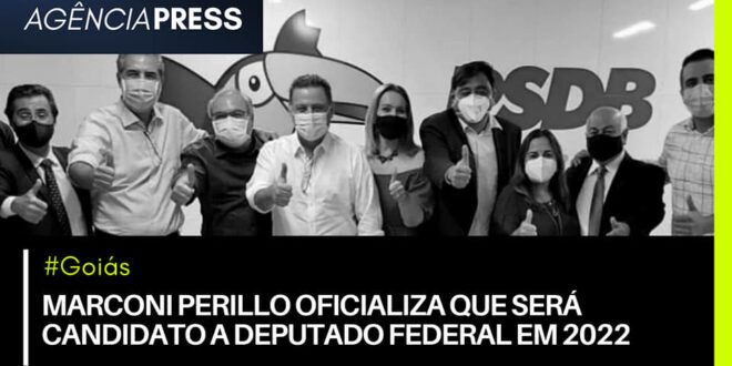 #Goiás | MARCONI PERILLO OFICIALIZA QUE SERÁ CANDIDATO A DEPUTADO FEDERAL EM 2022