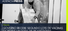 #Goiás | GOVERNO RECEBE SEGUNDO LOTE DE VACINAS DA PFIZER