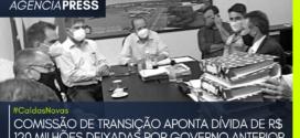 #CaldasNovas | COMISSÃO APONTA DÍVIDA DE R$ 120 MILHÕES DO GOVERNO ANTERIOR