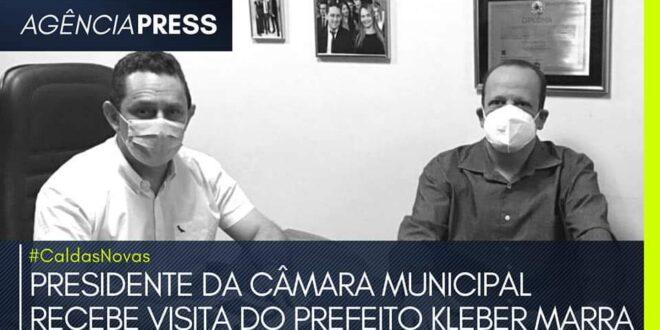 #CaldasNovas | PRESIDENTE DA CÂMARA RECEBE VISITA DO PREFEITO KLEBER MARRA