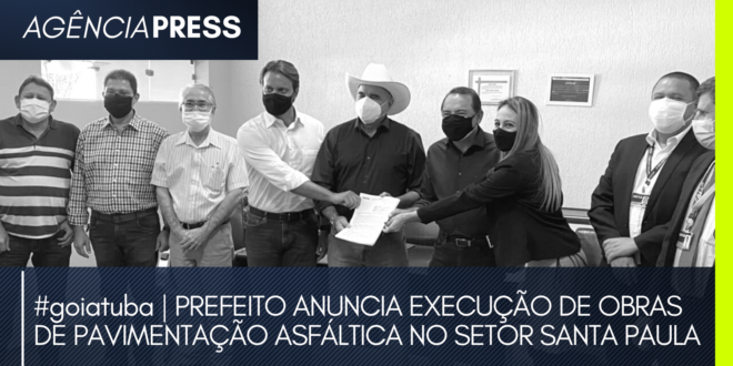 #goiatuba | PREFEITO ANUNCIA EXECUÇÃO DE OBRAS NO SETOR SANTA PAULA