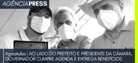 #goiatuba | AO LADO DO PREFEITO E PRESIDENTE DA CÂMARA, GOVERNADOR CUMPRE AGENDA  O